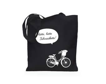 Jute bag would have had bike chain