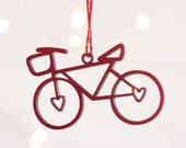 Wheelie Festive Bikes, Wooden Bicycle Christmas Decoration, Bicycle Christmas Ornament, Hanging Bike Decoration, Bicycle Tree Decoration