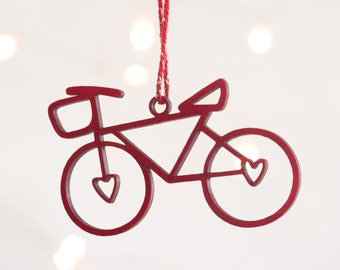 bicycle ornament etsy - Bicycle Christmas Ornament