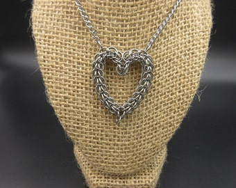 Stainless Steel Chainmaille Heart