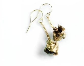 Snake Vertebrae Earrings - Snake Bone Earrings - Vertebrae Jewelry - Snake Drop Earrings