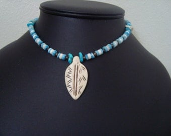 Bone Feather Necklace