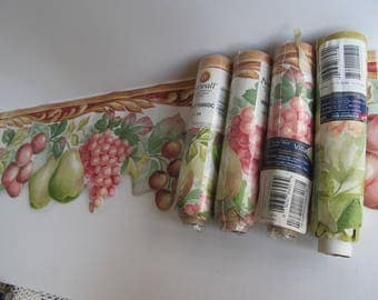 Vintage Wallpaper Boarder Colonial Wall Paper Fruit Border  Wide WallPaper Boarder Cut out Wallpaper Boarder Dining room Kitchen Wall