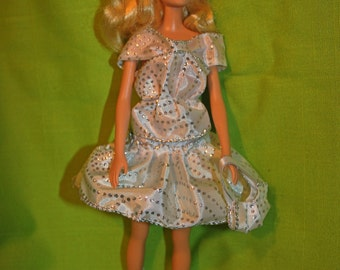 Barbie doll clothes -  set of 4 skirt, blouse, boots,bag