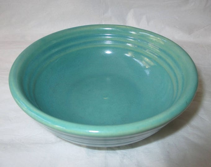 Vintage Bauer Los Angeles California Pottery Ring Cereal Bowl #5, Jade Green (c. 1930s)