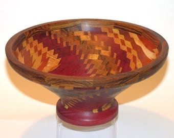 """Hand-Turned """"Dizzy"""" Bowl - Multiple Woods"""