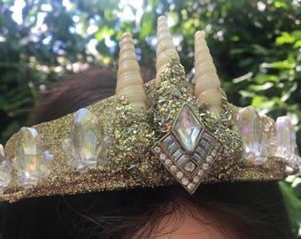 Glitter Seashell Crown