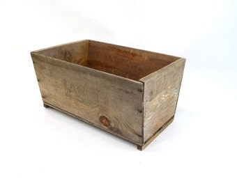 Vintage Wood Box, Farm Rustic, Homemade