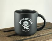 Edit or Die Mug (15 oz Black/Charcoal Stoneware) by AP vs. Chicago