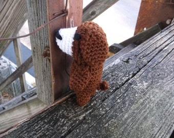 crochet dog, brown dog toy, dog amigurumi, dog, ready to ship