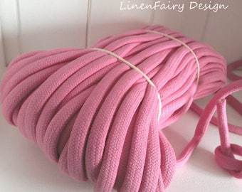 WHOLESALE 30 meters Pink Cotton Rope 10 mm Cotton With Filling Natural Rope for Crafts Jewellery Decorations