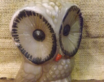 Shabby Owl Candle Vintage Owl Candle