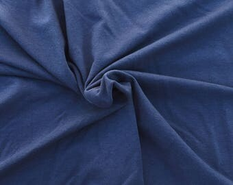 Cotton Blend French Terry Knit Fabric by Yard DENIM 4 Way Stretch 10/21/16
