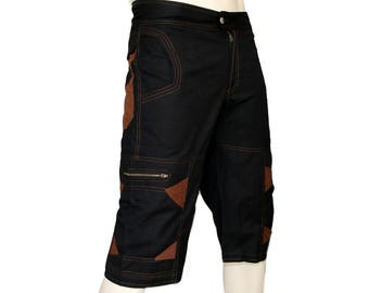 Men's Short Hipster Pants Steampunk Cargo Shorts Burning Man