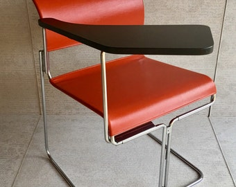 50% OFF Vintage Harter Vinyl & Chrome Tablet Chair