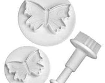 """3 piece  Butterfly Embossing cutters by lisa pavelka from 1 to  2 1/4"""" diameter"""