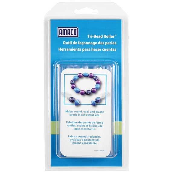 Amaco Bead Roller tri bead roller Makes a perfect round, oval and biconl beads every time.