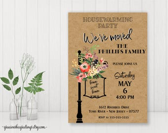 Housewarming Party Invitation, We've Moved Party Invite, Open House, First Home Party, Housewarming BBQ, Printable, Digital Invite