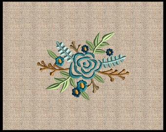 Flower Bouquet Machine Embroidery Design Floral Embroidery Design Flourish Embroidery Design