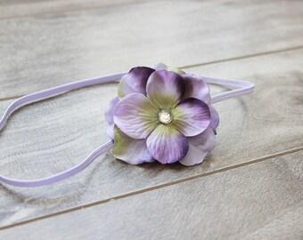 Lavender Purple Hydrangea Flower Headband