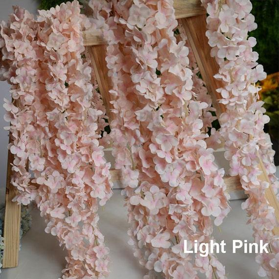 wedding arch garland blush pink silk wisteria flower garland. Black Bedroom Furniture Sets. Home Design Ideas