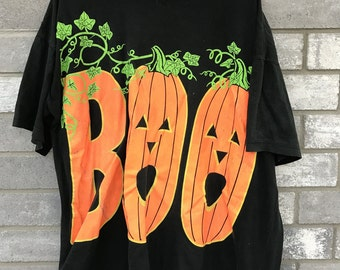 90s rare halloween boo pumpkin shirt