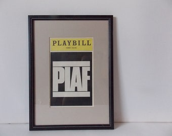 Vintage Framed Piaf Playbill Pam Gems Play at Forrest Theatre Edith Piaf Biographical Production