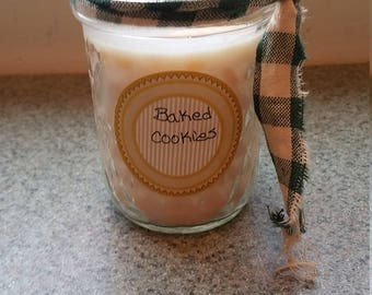 Homemade mason jar scented candles