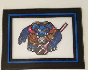 The Legend of Zelda Ganon..... Melted Beads.....With Frame