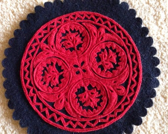 Vintage,  set of 2, hungarian embroidery