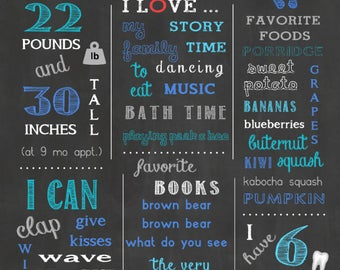 Customizable 16x20 First Birthday (Dohl-Dol) Chalkboard or Blackboard - Stat Board/Welcome Board/Sign/Poster