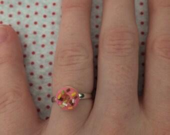 Mini Pink Donut Ring