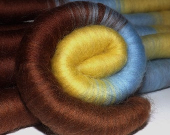 Rolags, punis for spinning - Morning Maple - 4.0 Oz