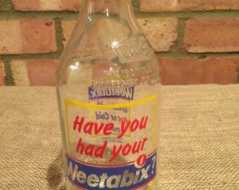 Vintage Unigate milk bottle '80's Weetabix