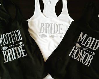 Bridesmaid Shirts, Bridal Party Tank Tops, Bachelorette Party Shirts, Bridesmaid T Shirts, Bridesmaid Gifts, morder of the bride gift