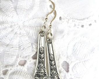 Antique Sterling Silverware  Earrings
