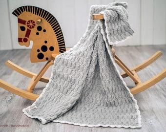 Wool woolen baby blanket, knitted blanket, handmade blanket