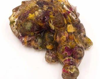 Litha MidSummer Pocket Dragon in Resin Summer Solstice Herbs Sleeping Baby Dragon