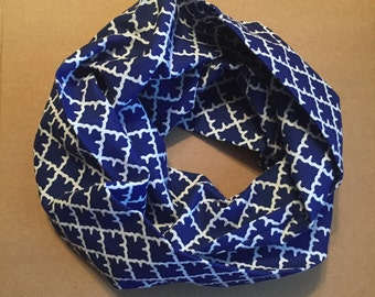 Infinity Scarf, blue and white, children, toddlers, babies