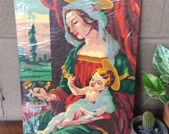Mary and Baby Jesus Paint by Number, 14""