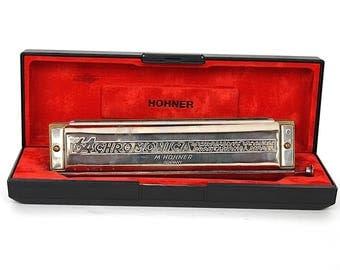 Hohner Harmonica - 64 Hohner Chromonica 280 C - Vintage Harmonica - Key of C - 4 Chromatic Octaves Professional Model