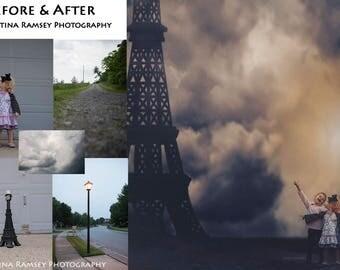 Paris Eiffel Tower Stock PNG Pre-cut