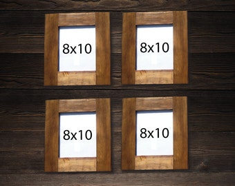 8 X 10 frames SET OF 4 - Rustic Frame made of reclaimed wood - Save on Shipping