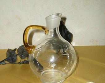 1960s Glass Wine Carafe - SALE