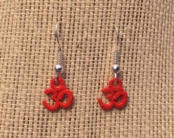 Orange OM Earrings