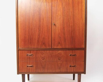 Vintage Danish Teak Highboy Dresser
