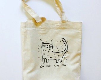 Cat Tote Bag, Cat, Tote Bag, Canvas Bag, Grocery Tote, Book Tote, Library Tote, Market Bag, Reusable Grocery Bag, Crazy Cat Lady