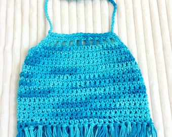 Infant Crop Tops, Toddlers Crochet Halter Tops, Hippie Bo Ho Crochet Halters, Bohemian Crop Tops, Girls Crochet Halter Tops, Crochet Halters