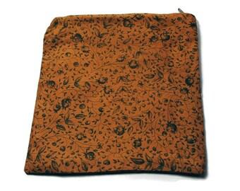 Reusable Zipper Sandwich Bag Rust Green