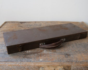 Vintage Metal Suitcase - Small